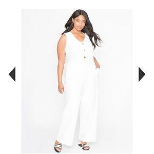 NWT Eloquii Wide Leg White Jumpsuit